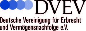 Logo des DVEV - Deutsche Vereinigung für Erbrecht und Vermögensnachfolge