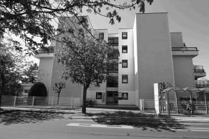 schwarz-weiß Bild von der Anwaltskanzlei von der Rathhausstr. 16, in 53332 Bornheim